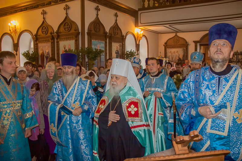 Богослужение в праздник Благовещения Пресвятой Богородицы.