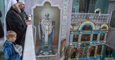 В день памяти прп. Сергия Радонежского правящий архиерей совершил Литургию в храме Архангела Михаила с. Сям-Можга