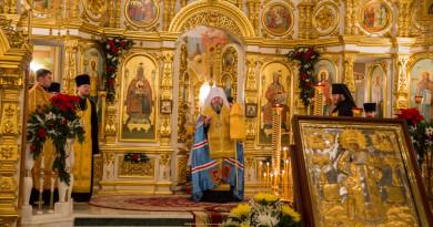 Правящий архиерей совершил Всенощное бдение в Михайловском соборе г. Ижевска