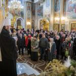 В Крещенский Сочельник митр. Викторин помолился за Всенощным бдением в кафедральном храме