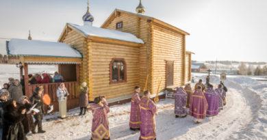 Совершено освящение храма в д. Большая Кивара Воткинского района