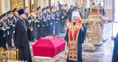 В Михаило-Архангельский собор г. Ижевска принесены останки воина, погибшего в Великой Отечественной войне