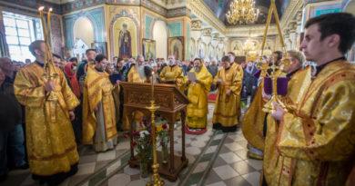 Архипастырское служение в Неделю всех святых