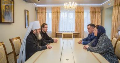 Митрополит Викторин встретился с исполнительным директором Парадельфийского комитета России