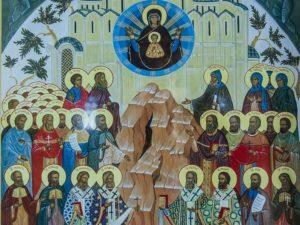 Собор святых Кемеровской земли, в который входит священномученик Анатолий Левицкий. К сожалению, фото о. Анатолия не сохранилось