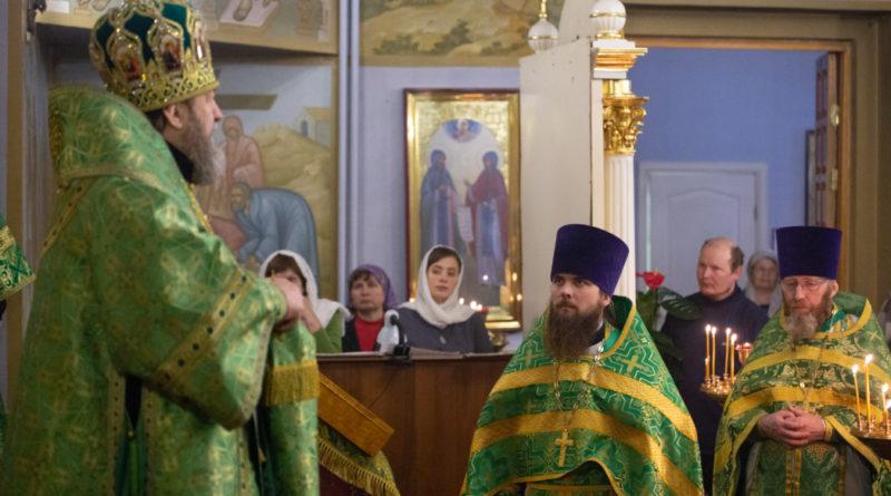 Архиерейское богослужение в храме с. Якшур-Бодья