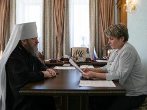 Митрополит Викторин встретился с министром национальной политики