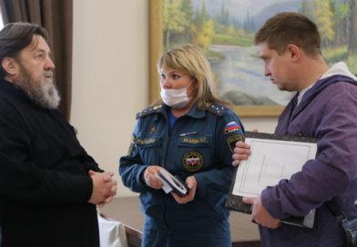 Состоялась рабочая встреча митр. Викторина с пожарным инспектором