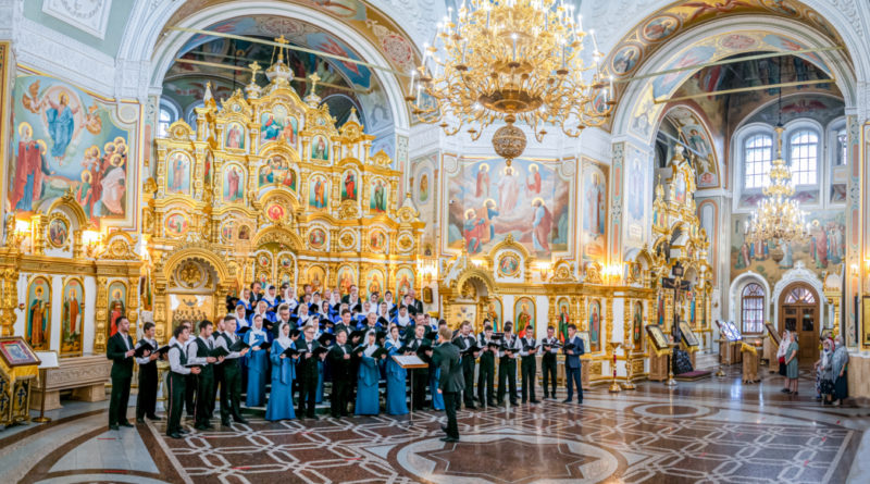 В честь Дня крещения Руси под сводами кафедрального храма прозвучали духовные песнопения