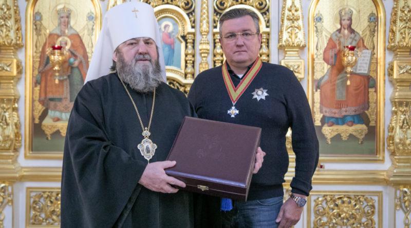 Благотворитель епархии А.В. Емшанов награжден орденом Даниила Московского