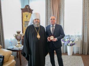 Митр. Викторин встретился с генеральным директором АО «Воткинский завод»