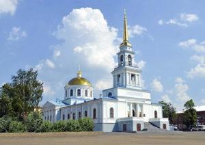 Состоится первая литургия в верхнем храме Благовещенского собора г. Воткинска